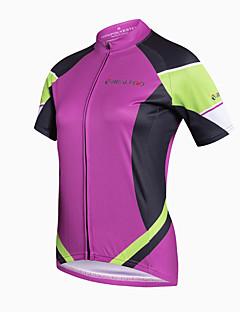 חולצת ג'רסי לרכיבה לנשים שרוול קצר אופניים ג'רזי ייבוש מהיר נושם חומרים קלים כיס אחורי תומך זיעה נוח 100% פוליאסטר קלאסי אופנתי מדפיסאביב