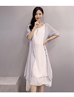 Sommerkleid Baumwollkleid literarische Temperament Retro zweiteilige Klage weibliche Sommer beiläufige Leinenklagen