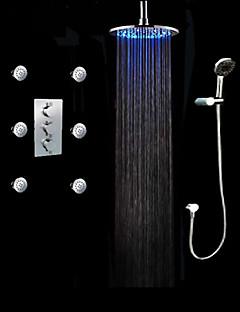Torneira de Chuveiro - LED / Chuveiro Tipo Chuva / Chuveiro de Mão Incluído Cromado) - ESTILO Contemporâneo