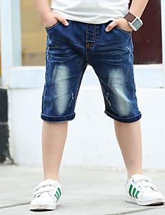 Drenge Jeans Skole I-byen-tøj Afslappet/Hverdag Broderi-Bomuld Sommer