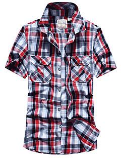 לגברים חולצה מחנאות וטיולים נושם אביב אודם צהוב בהיר אדום