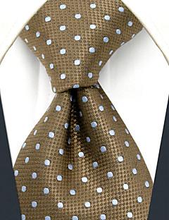 Для мужчин Винтаж Очаровательный Для вечеринки Для офиса На каждый день Галстук,Все сезоны Искусственный шёлк
