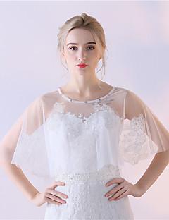 Estolas Femininas Mini Capa Tule Casamento Festa Renda Strass