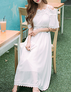 One-Piece/Dress Classic/Traditional Lolita Vintage Inspired Elegant Princess Cosplay Lolita Dress Solid Lace Vintage Half-Sleeve