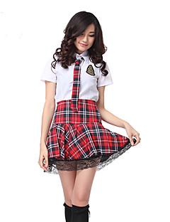 Costumi Cosplay Vestito da Serata Elegante Studente/Uniforme scolastica Costumi di carriera Feste/vacanze Costumi Halloween Rosso/Bianco
