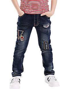 男の子 お出かけ カジュアル/普段着 学校用 刺繍 コットン ジーンズ 夏 春 秋