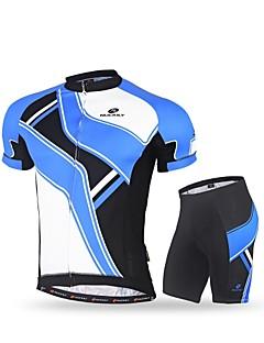 Nuckily Biciklistička majica s kratkim hlačama Muškarci Kratki rukav Bicikl Kompleti odjećeQuick dry Ultraviolet Resistant Prozračnost