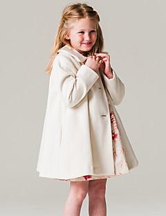ז'קט ומעיל אקריליק פוליאסטר 100% כותנה שרוול ארוך אופנתי אחיד בנות