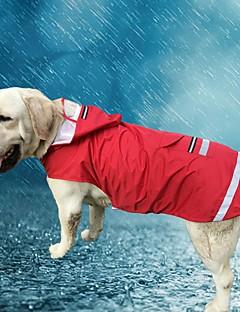 ネコ 犬 パーカー レインコート 犬用ウェア カジュアル/普段着 防水 純色 レッド ブルー