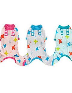犬 パジャマ 犬用ウェア カジュアル/普段着 Stars グリーン ピンク ライトブルー