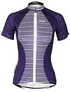 Camisa para Ciclismo Mulheres Manga Curta Moto Camisa/Roupas Para Esporte BlusasCiclismo Secagem Rápida Resistente Raios Ultravioleta