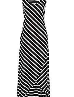 Women's Beach Sexy Swing Dress,Striped Strapless Maxi Sleeveless Polyester Summer High Rise Inelastic Thin