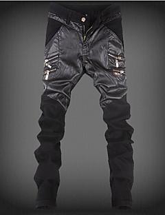 Męskie Moda miejska Średnio elastyczny/a Typu Chino Spodnie,Średni stan Luźna Blok kolorów
