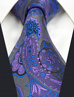 CXL14 New For Mens Neckties Extra Long Handmade Purple Gray Abstract 100% Silk Fashion Dress Unique Casual