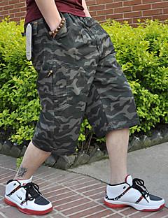 Męskie Prosty Średnio elastyczny/a Haremki Krótkie spodnie Spodnie,Wysoki stan Luźna,Czysta Kolor Jendolity kolor