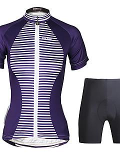 Camisa com Shorts para Ciclismo Mulheres Manga Curta Moto Conjuntos de RoupasCiclismo Secagem Rápida Resistente Raios Ultravioleta