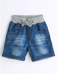 ג'ינס כותנה קיץ צבע אחיד אחיד-בנים