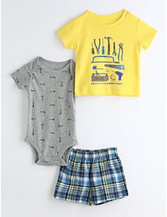 bébé Enfants Décontracté / Quotidien Géométrique Ensemble de Vêtements,Dessin Animé