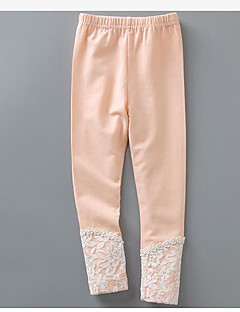 Girls' Solid Pants-Cotton Spring Winter