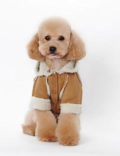 犬 パーカー 犬用ウェア カジュアル/普段着 ブリティッシュ コーヒー Brown レッド