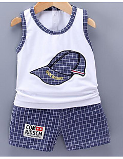 Boys' Solid Sets,Cotton Summer Clothing Set