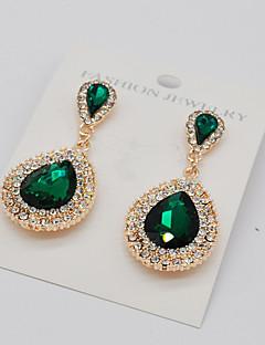 Žene Viseće naušnice Umjetno drago kamenje Moda Euramerican kostim nakit Legura Teardrop Jewelry Za Party