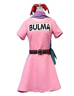 קיבל השראה מ Dragon Ball קוספליי אנימה תחפושות קוספליי שמלות צבע אחיד שרוולים קצרים שמלה עבור נקבה