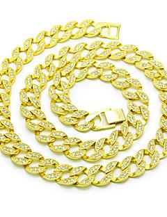 Lucky panenka pánská 15mm náhrdelník náhrdelník drahokam zlacená slitina základní kruhové punk šperky pro narozeninový dárkový denní
