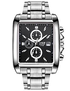 Homens Relógio Esportivo Relógio Elegante Relógio de Moda Quartzo Aço Inoxidável Banda Casual Prata