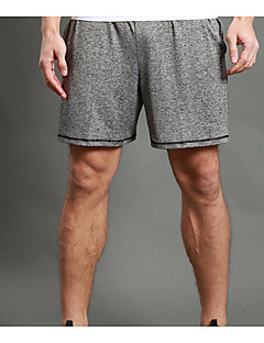 WOSAWE Herre Shorts til jogging Splitt shorts til jogging Fitness, Løping & Yoga Fort Tørring Pustende Shorts Running T-skjorte + Shorts