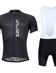 KEIYUEM חולצת ג'רסי ומכנס קצר ביב לרכיבה בגדי ריקוד גברים יוניסקס שרוול קצר אופנייםגרביונים ביב ג'רזי טייץ רכיבה על אופניים שורטים