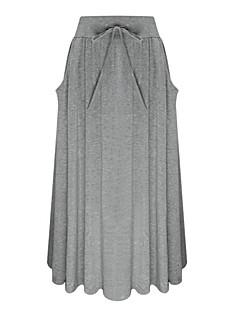 Damen Einfach Lässig/Alltäglich Midi Röcke Schaukel einfarbig Ganzjährig