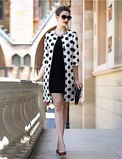 Damen Solide Punkt Einfach Lässig/Alltäglich Muskelshirt Rock Anzüge,Rundhalsausschnitt Frühling ¾ Ärmel