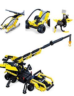 DHZ-kit Bouwblokken Educatief speelgoed Voertuig Voor cadeau BouwblokkenTank Vliegtuig Vechter Automatisch Helikopter Vorkheftruck