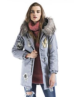 Damen Gefüttert Mantel,Standard Retro Street Schick Anspruchsvoll Ausgehen Lässig/Alltäglich Druck-Polyester Polyester Polypropylen