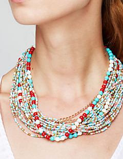 Žene Pramenove Ogrlice Izjava Ogrlice Jewelry Legura Moda Europska Elegantno Bohemia Style Festival/Praznik kostim nakit Jewelry Za Party
