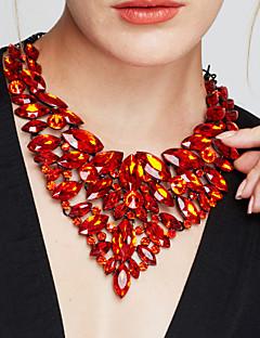 Γυναικεία Κολιέ Δήλωση Κολιέ σαν σαλιάρα Κοσμήματα Πετράδι Κρύσταλλο Μοντέρνα Ευρωπαϊκό κοσμήματα πολυτελείας Κοσμήματα με στυλ Κομψή