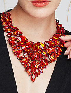 Women's Statement Necklaces Bib necklaces Jewelry Gemstone Crystal Fashion European Luxury Statement Jewelry Elegant Costume Jewelry
