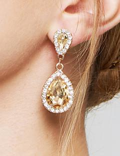 여성용 드랍 귀걸이 귀걸이 패션 우아한 신부 홀딱 반할 만한 의상 보석 지르콘 모조 다이아몬드 합금 드롭 보석류 제품 결혼식 파티 약혼 일상