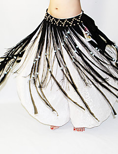 Dança do Ventre Lenços de Quadril para Dança do Ventre Mulheres Apresentação Poliéster Miçangas 1 Peça Xale de Dança do Ventre