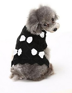 Dog Sweater Dog Clothes Casual/Daily Bowknot Black White