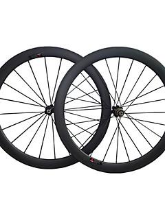 UDELSA - WH-R60-C 60mm 700C Full Carbon Fiber Clincher Road Bike/Bicycle Wheelsets