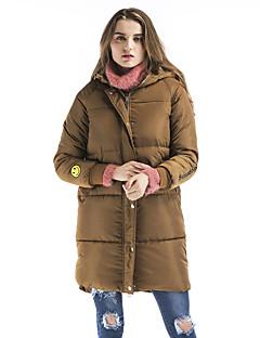 Damen Gefüttert Mantel,Lang Retro Street Schick Anspruchsvoll Ausgehen Lässig/Alltäglich Druck-Polyester Polyester Polypropylen Langarm