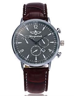 Herrn Kleideruhr Modeuhr Armbanduhr Einzigartige kreative Uhr Armbanduhren für den Alltag Chinesisch Quartz Kalender Leder Band