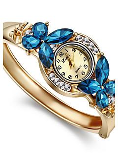 Damen Modeuhr Armband-Uhr Quartz Imitation Diamant Legierung Band Armreif Elegante Gold Weiß Blau Regenbogen
