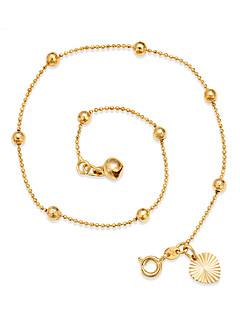 Γυναικεία Βραχιόλι αστραγάλου/Βραχιόλια Επιχρυσωμένο Προσαρμόσιμη μινιμαλιστικό στυλ Circle Shape Round Shape Κοσμήματα Για Εξόδου Παραλία