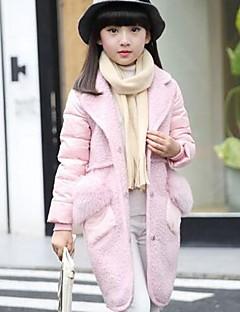 Genç Kız Pamuklu Polyester Solid Sonbahar Kış Uzun Kol Şişme ve Pamuk Pedli