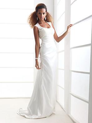 Lanting Bride® Pouzdrové Drobná / Nadměrné velikosti Svatební šaty - Elegantní & moderní / Elegantní & luxusní Open Back Dlouhá vlečka