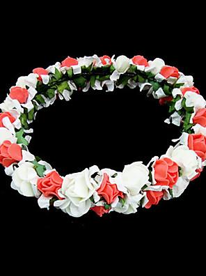 Mulheres / Menina das Flores Espuma Capacete-Casamento / Ocasião Especial / Ao ar Livre Flores