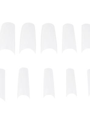 500pcs pro witte half goed valse acryl nail art tips